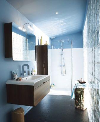 salle de bain bleu et blanc ambiance institut bathrooms ideas salle de bain salle de bain. Black Bedroom Furniture Sets. Home Design Ideas