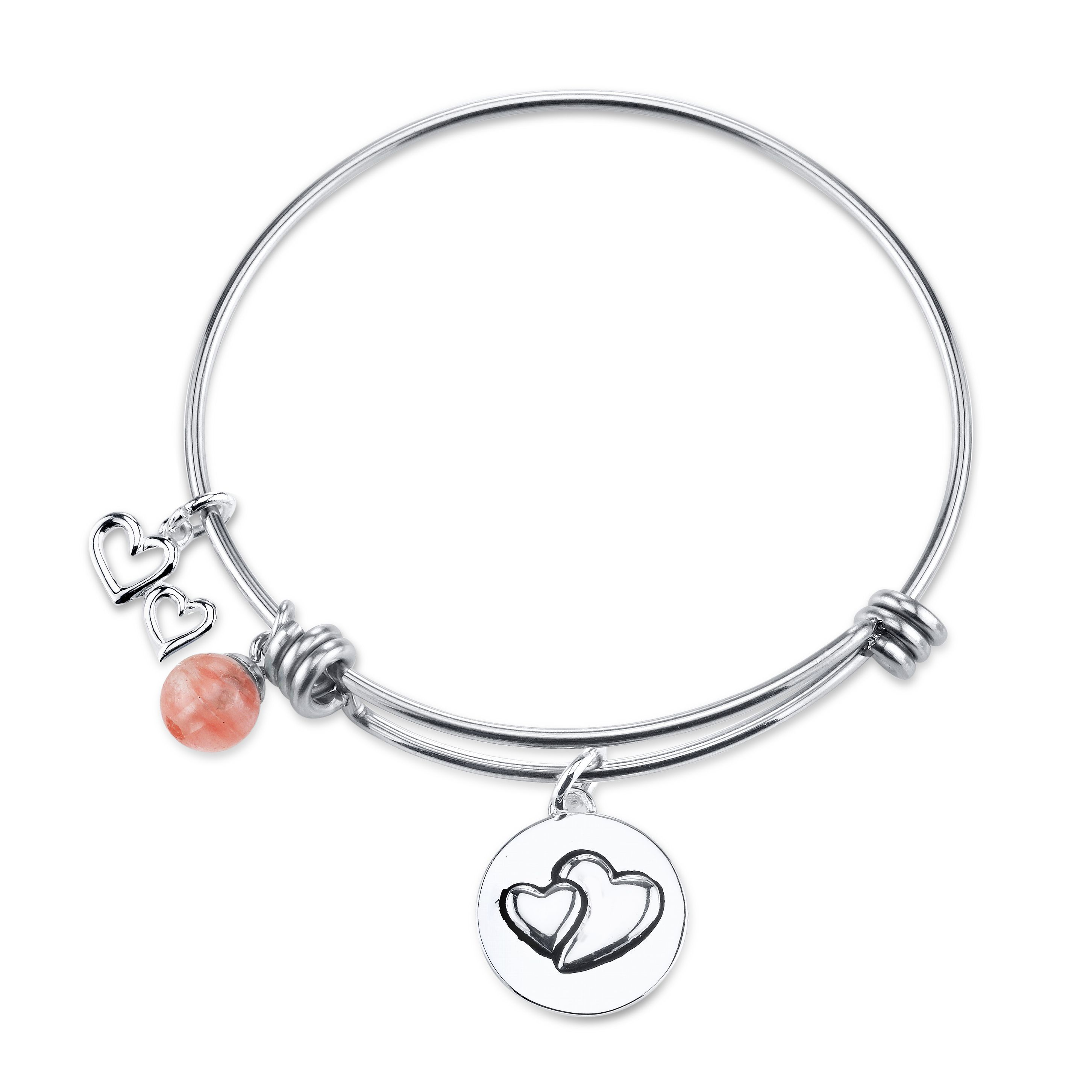 This shine stainless steel expandable bangle keeps your precious
