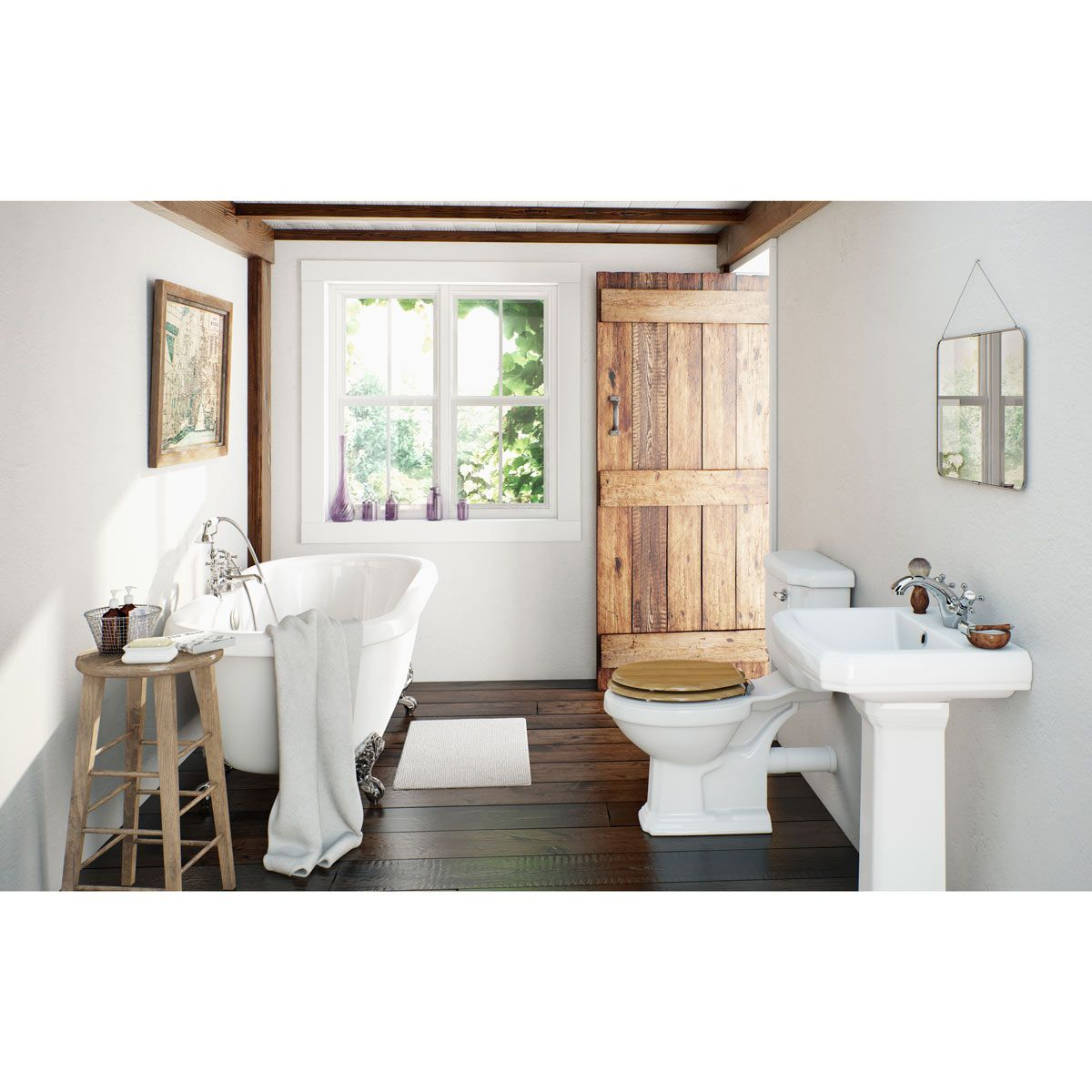 10 of the best bathroom suites on a budget | Roll top bath, Oak ...