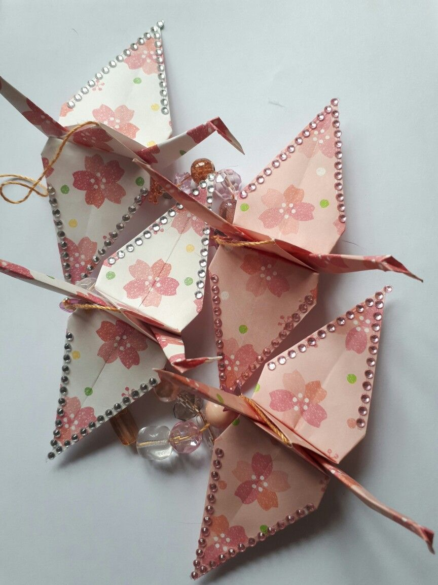 Origami Crane Decoration Red Acer Paper