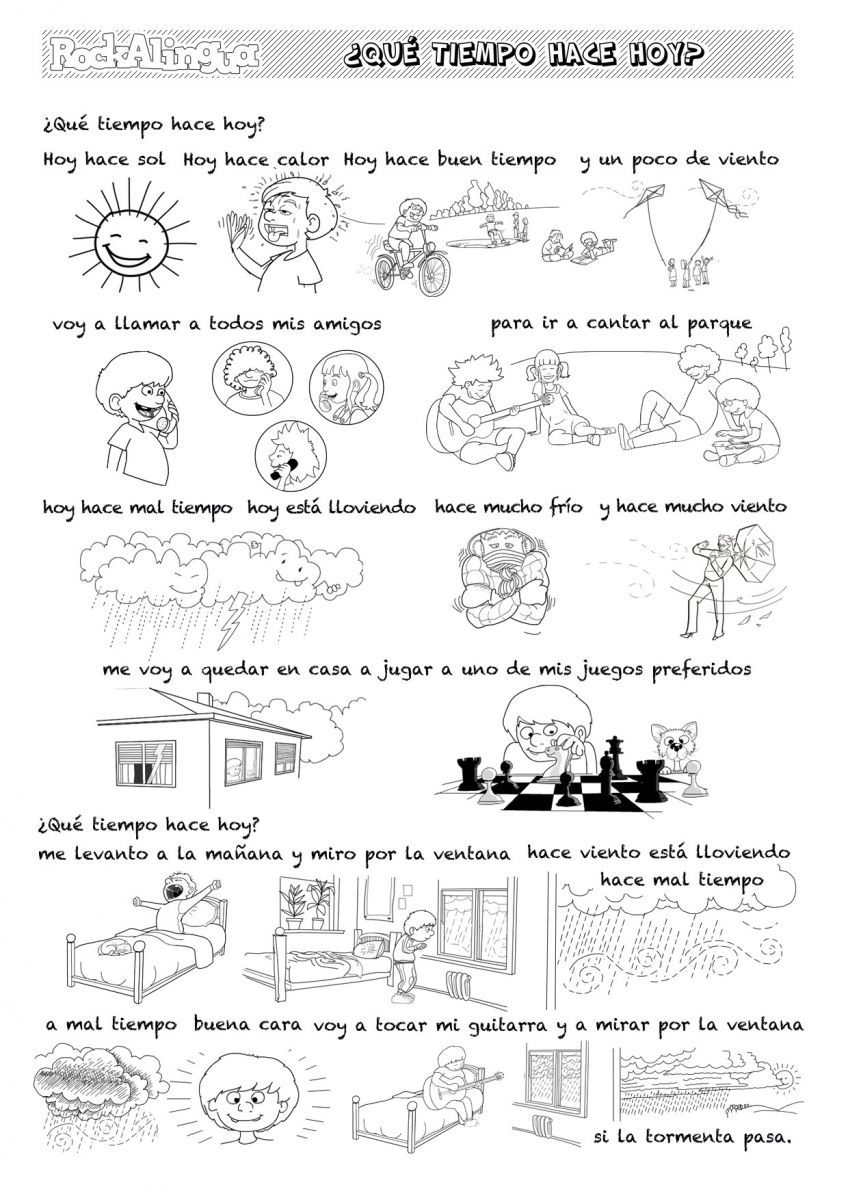 Workbooks weather expressions in spanish worksheets : The weather song! Spanish for kids by Rockalingua | Spanish songs ...