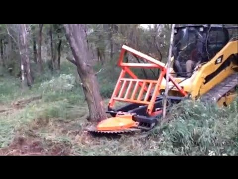 skid steer brush cutter, tree trimming equipment, tree clearing
