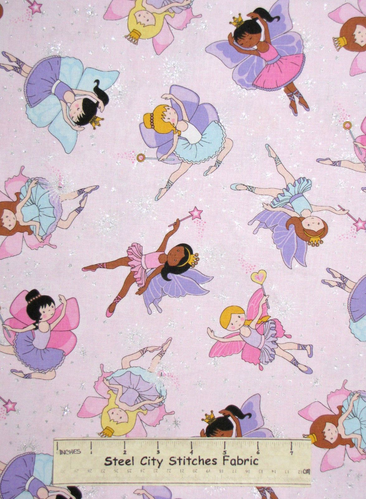 Fairy princess fabric 100 cotton by the yard timeless