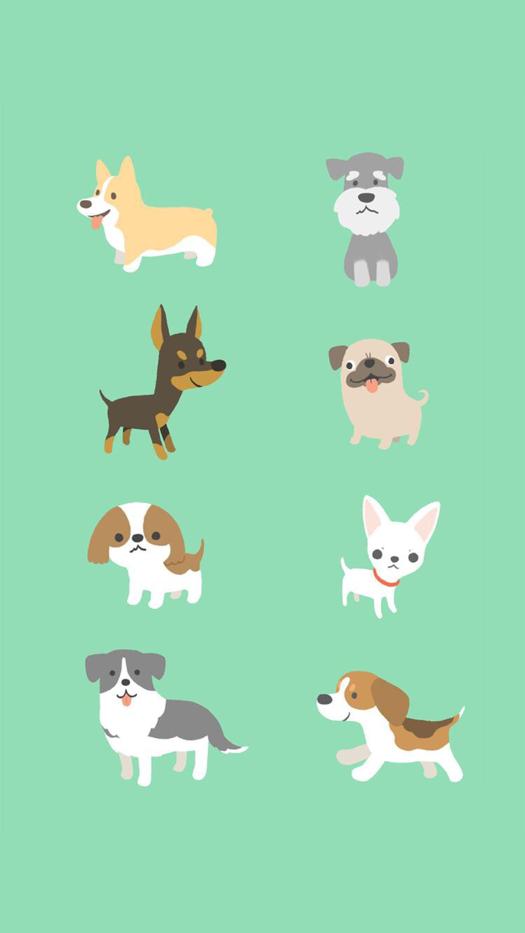 Cartoon Dog Iphone Wallpaper