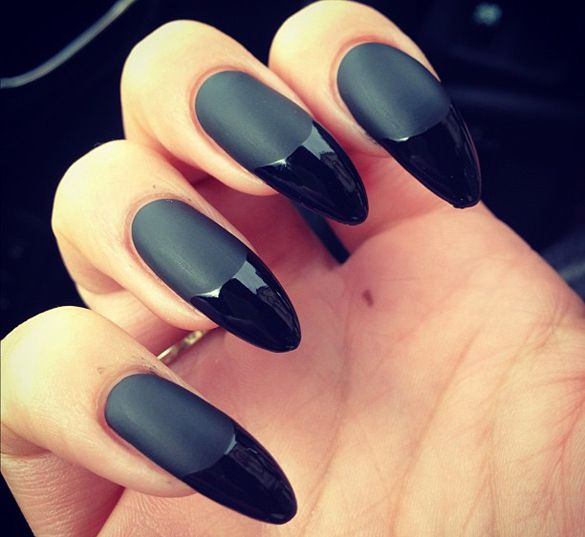 45+ Fearless Stiletto Nails | Claw nails, Black nails and Matte nails