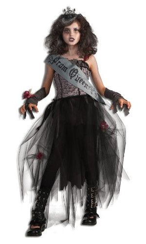 Teen Zombie Bride Graveyard Corpse Costume Girls Halloween Fancy Dress Outfit