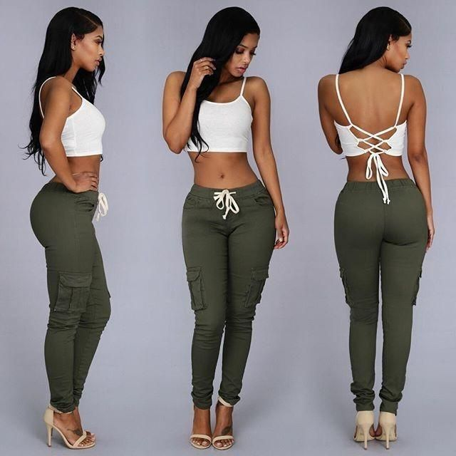 Stretch Jeans For Women With Elastic Waist