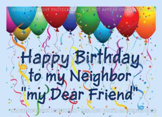 Happy Birthday Neighbor Friend Balloons Card Happy Birthday Neighbor Happy Birthday Cousin Happy Birthday Son