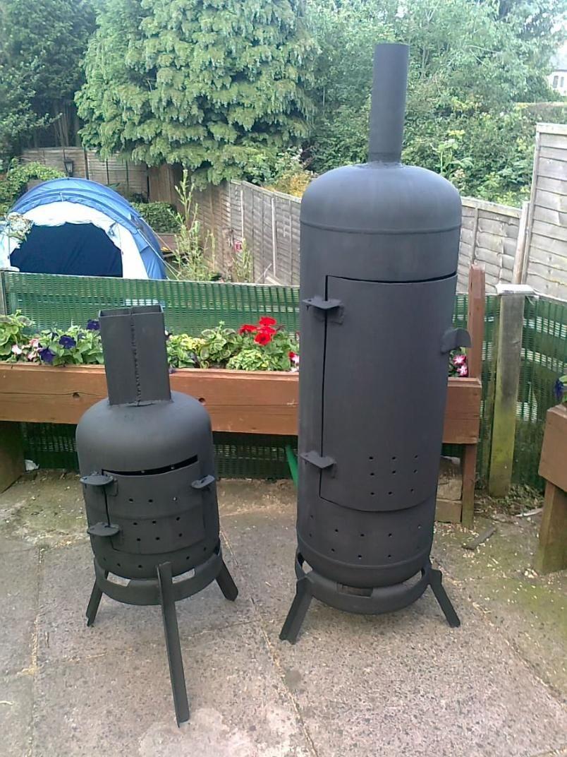 Garden Wood Burners Made By My Husband Gas Bottle Wood Burner