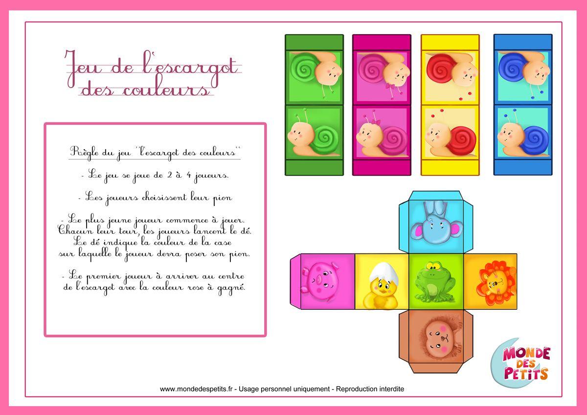 r gle du jeu pour enfant imprimer escargot pinterest jeux jeux enfants et jeux de soci t. Black Bedroom Furniture Sets. Home Design Ideas