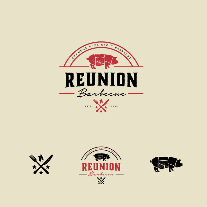 Design A Hipster Logo For Reunion Barbecue By Jayvee