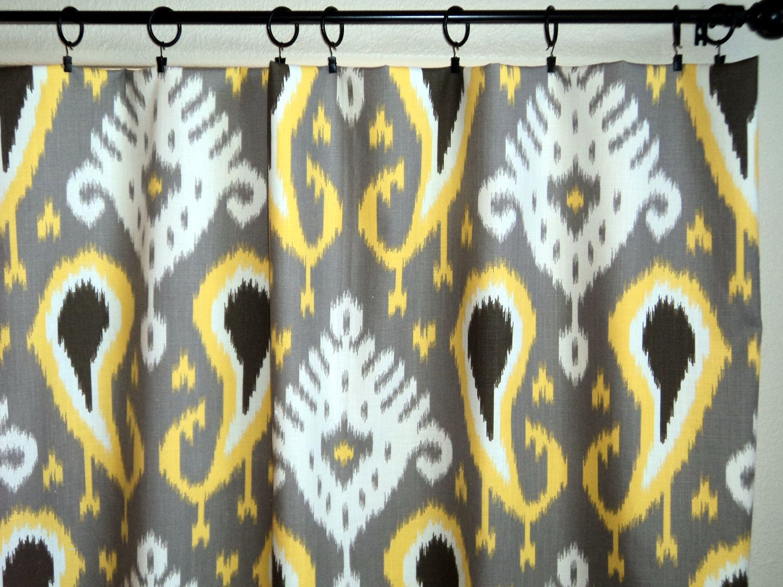 Cotenza modern curtains nice modern net curtains simple modern curtain - Ikat Curtains Window Drapes Pair 50 X 84 Dwell Studio Grey Yellow Gray Curtainswindow Drapesmodern