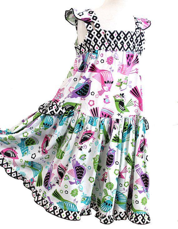 0a941c4b5d Modern Handmade Girls Dress, Tween Pre-teen Summer Dress, Pink ...