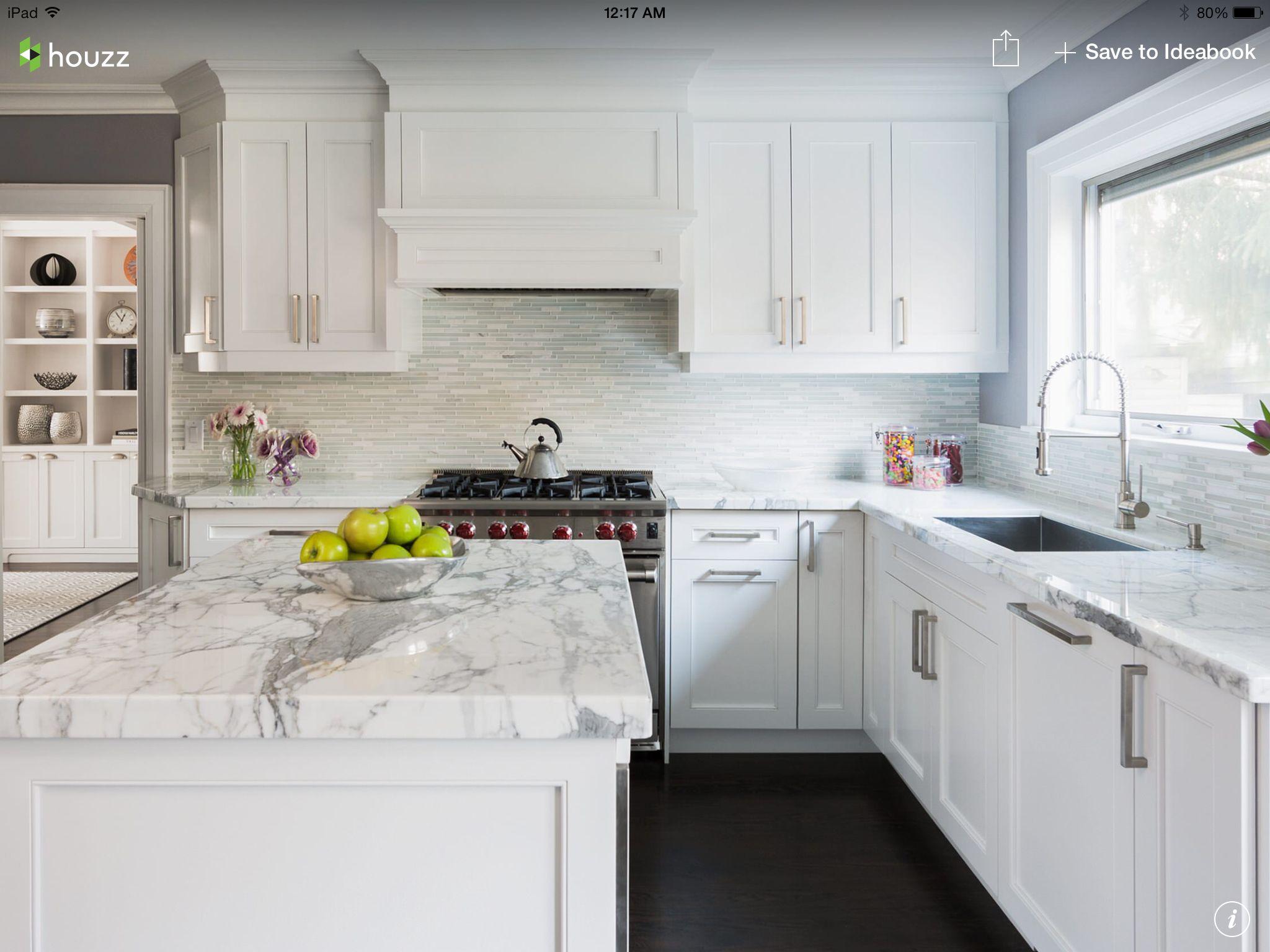 White Kitchen Houzz Kitchen design, White modern
