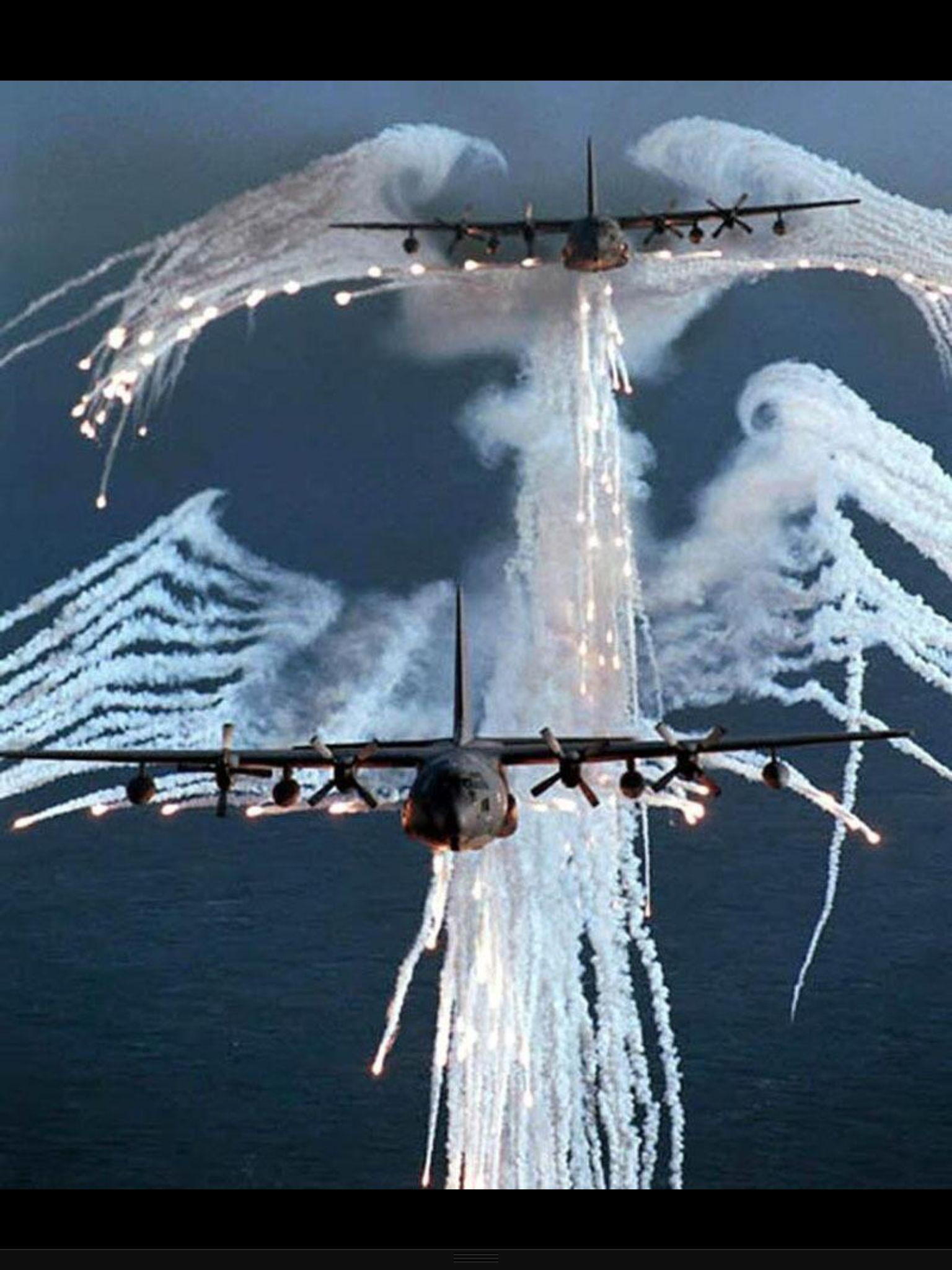 c130s firing their flares aka angel of death usa air force our