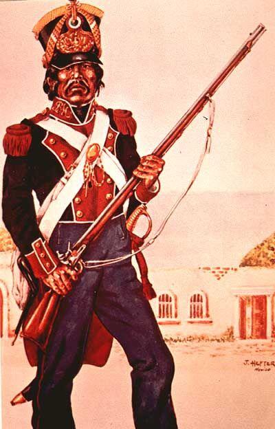 Soldado mexicano 1820's - 1830's.
