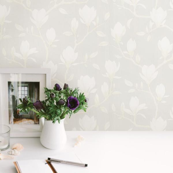 Sandudd Grandiflora Beige Magnolia Wallpaper SD52284