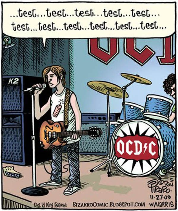 Here we are on stage with the band OCD*C...