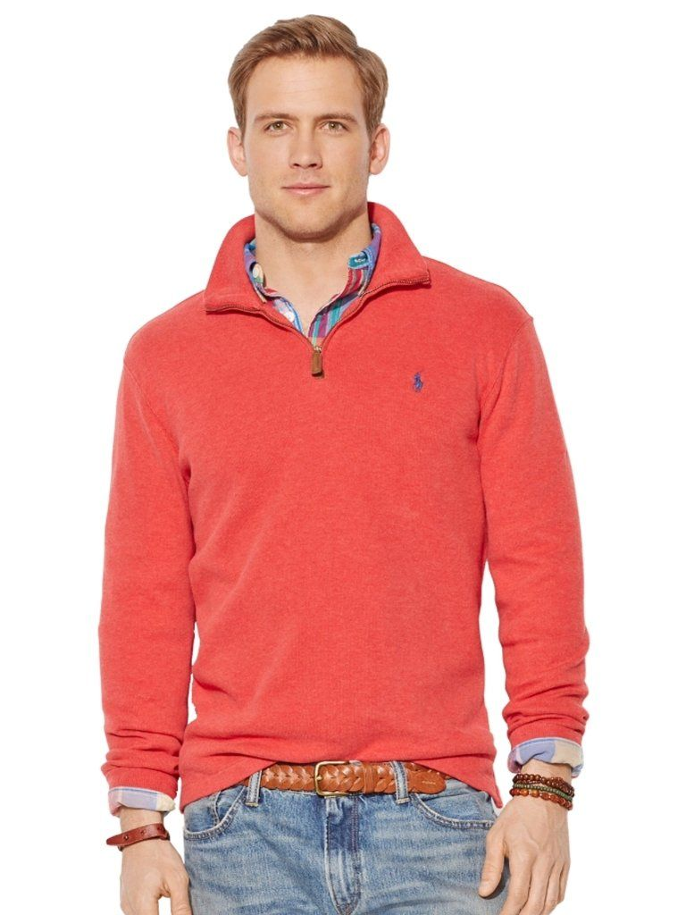5a4dec5b6 ... france polo ralph lauren mens half zip french rib cotton sweater from  greatskygifts 1e27a 02788