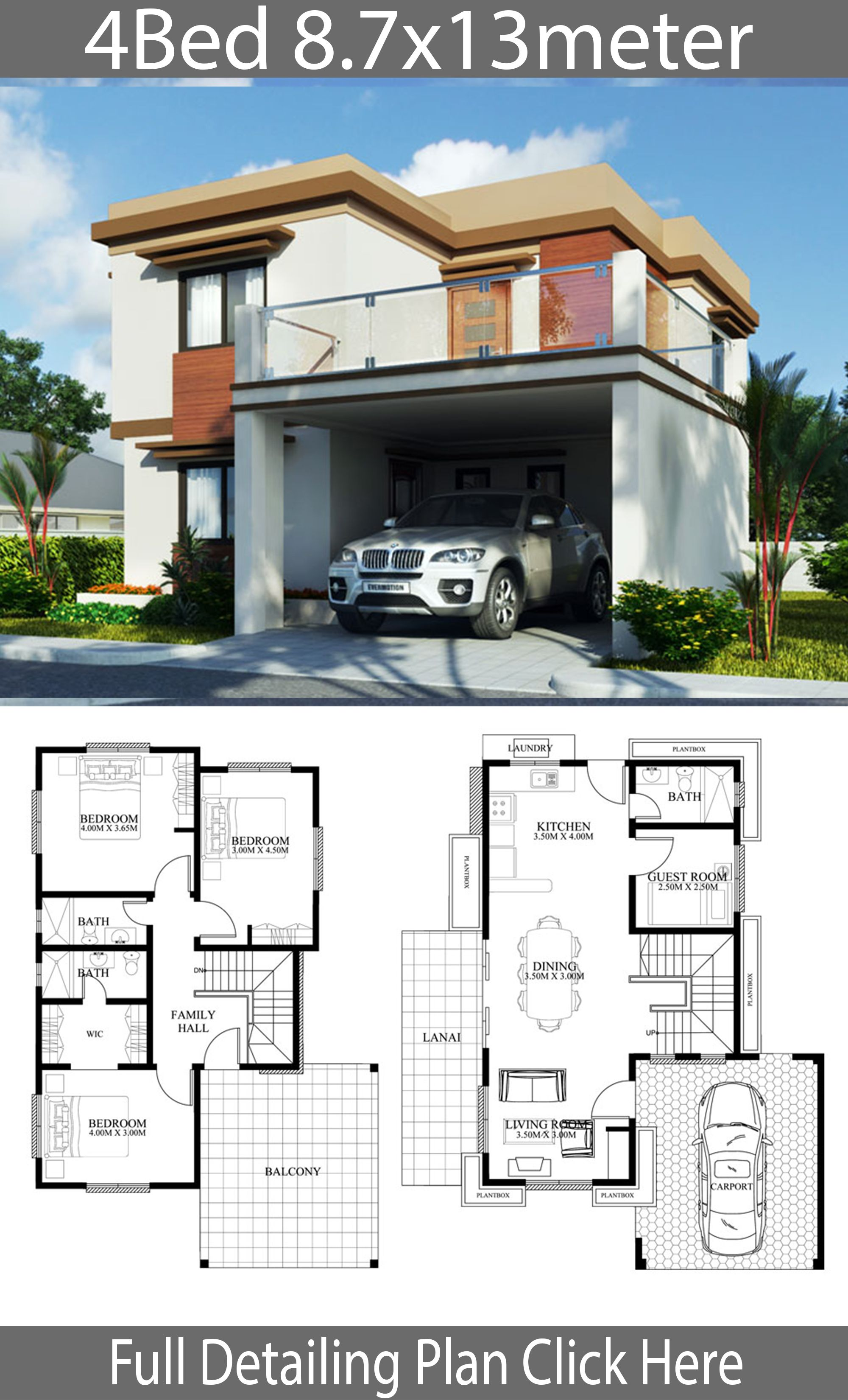Pin By Mohammed Ali On Samphoas House Plan Small Modern House Plans House Plans Home Design Plan
