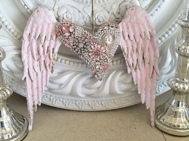 Vintage Ornaments, Angel Wings Wall