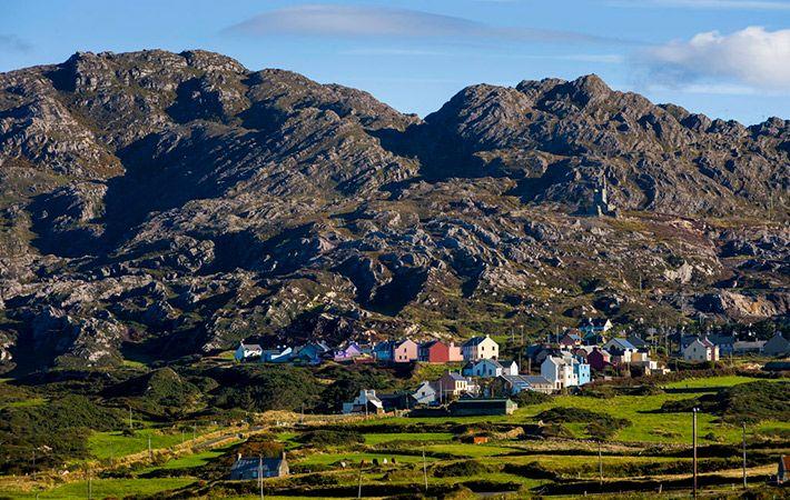 Allihies and Slieve Miskish Mountains, Beara. Co. Cork.