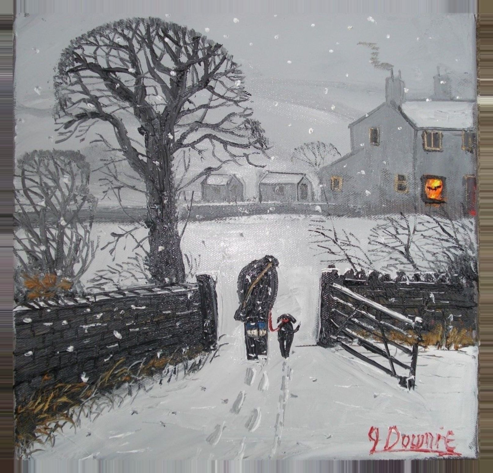 Winter In The British Countryside Winter Art Winter Painting Winter Scenes