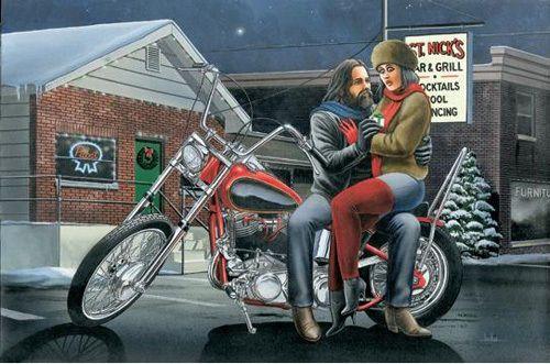 Harley Art David Mann Christmas Cards 10 Pack 5 Designs Ebay