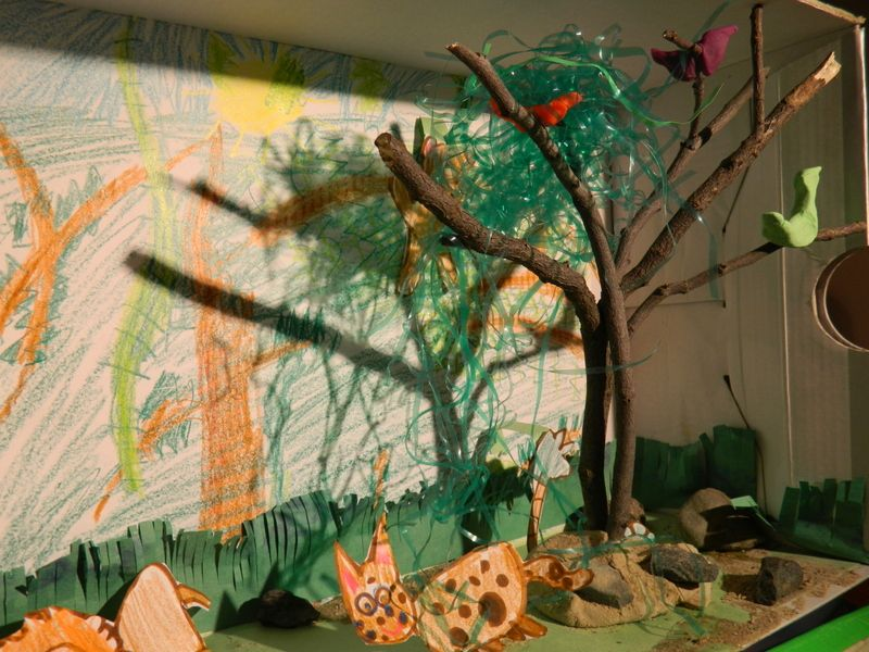 An amazon rainforest diorama project for school. It wasn't an ...