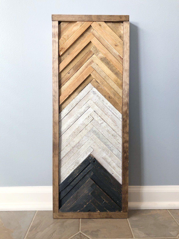 Geometric Chevron Wood Wall Art Decor Etsy Wood Wall Art Diy Wood Wall Art Decor Wood Wall Art
