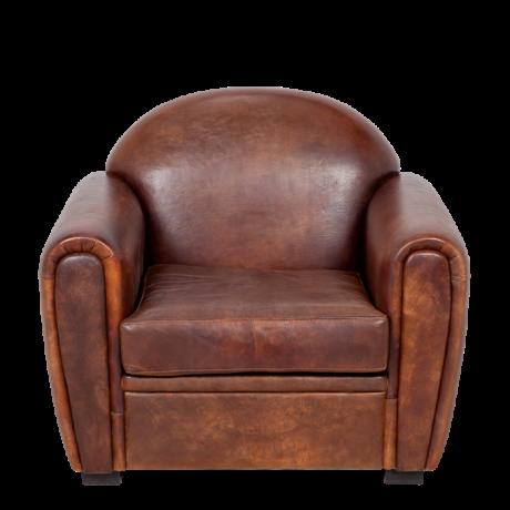 Fauteuil Club cuir marron 100 x 83 cm H 97 cm Pour une ambiance