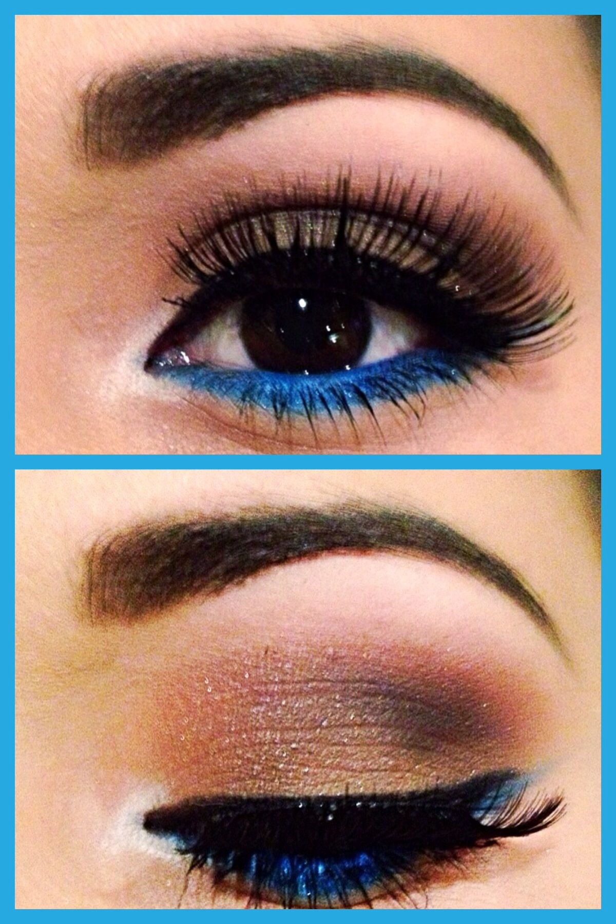 Brown and blue make up