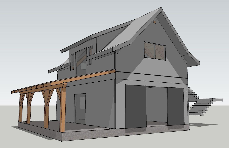 Opossum Creek Cabin A Timber Frame Garage House Plans Kitore