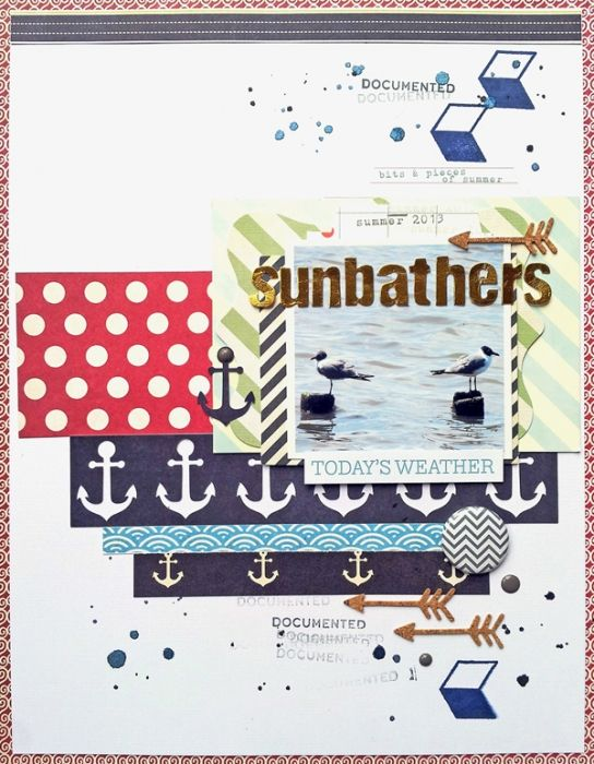 Scrapbook Page Storytelling with the Modern Nautical Style | Ashley Horton | Get It Scrapped