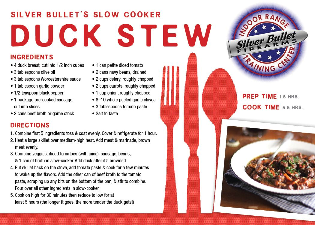 Silver Bullet's Slow Cooker Duck Stew
