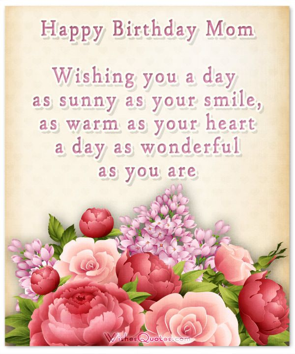 Happy Birthday Mom Wishes Greetings Mother Quotes