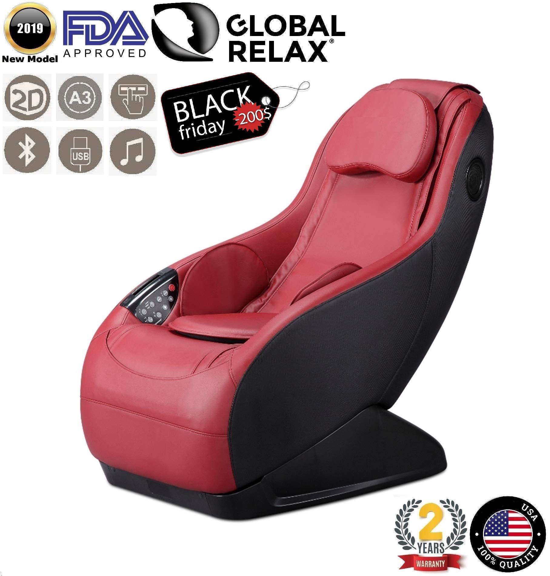 Blackfriday 200 I Guru Massage Chair Red 2019 New Model 3 Massage Modes 3d Surround Sound Relax Arm Massage Chair Shiatsu Massage Chair Feet Roller