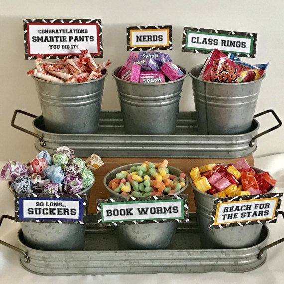 Graduation Candy Buffet Signs Set Of 9 Bar Sign Party Favors