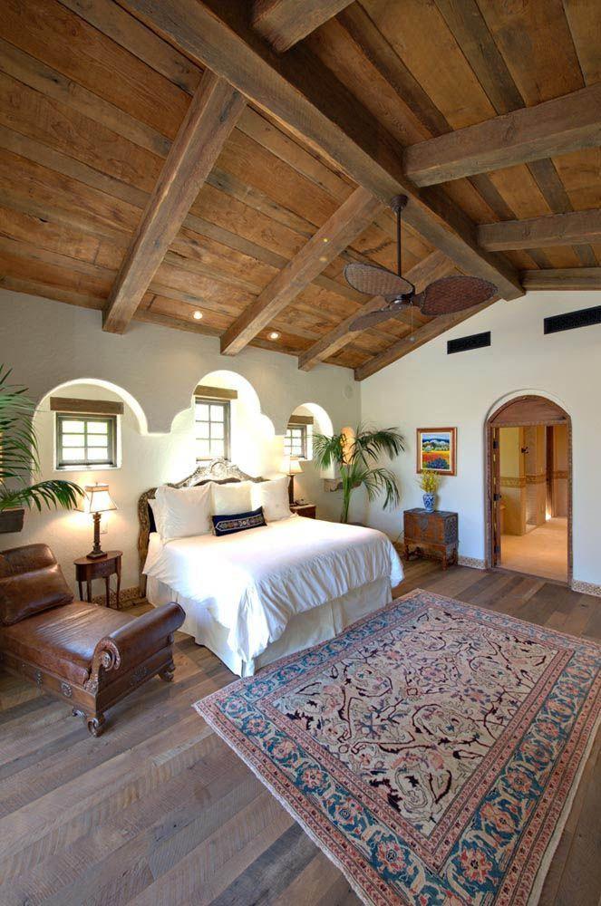 Rustic Barn Oak Flooring Spanish Style Homes Hacienda