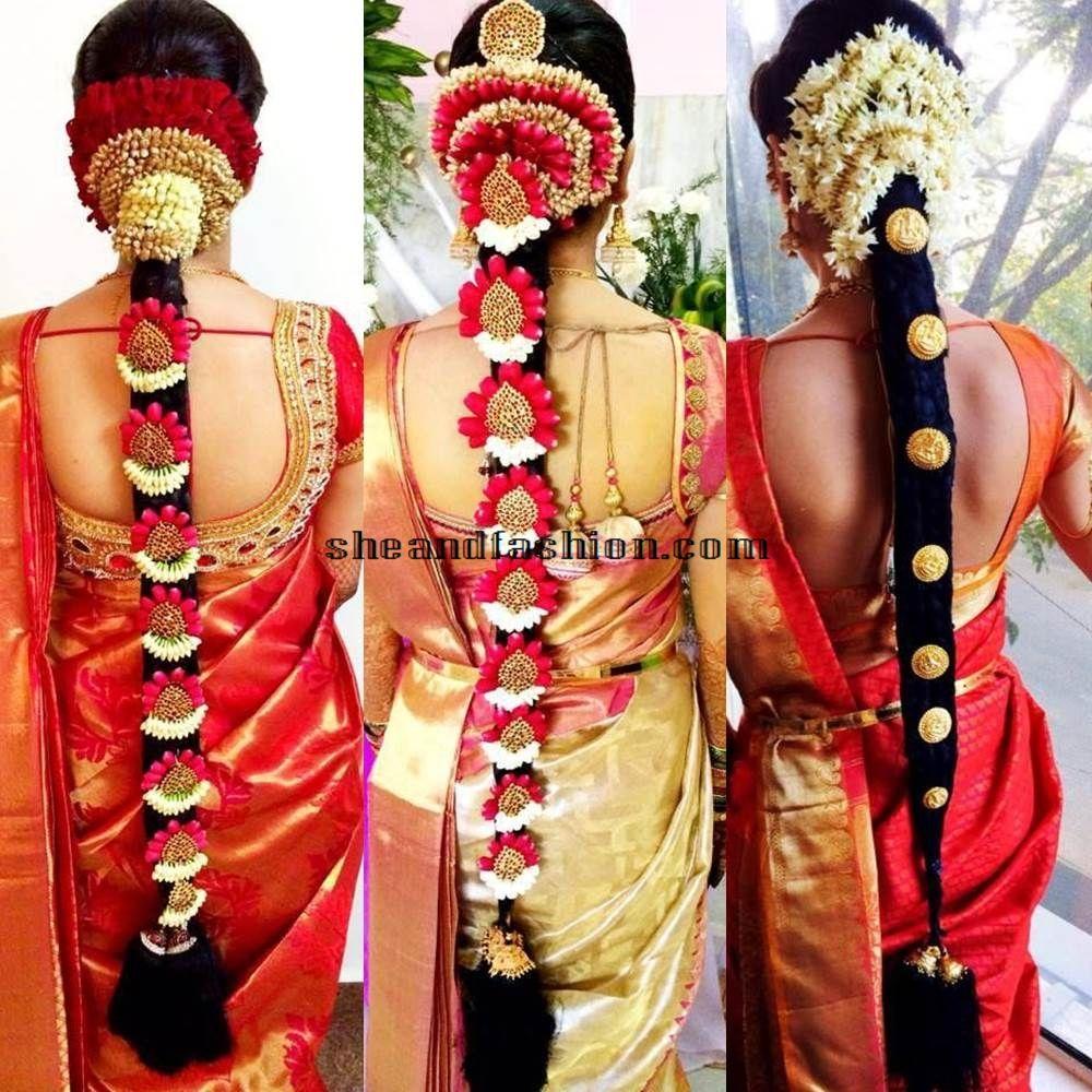South Indian Wedding Bridal Hairstyles: South Indian Bridal Fashion