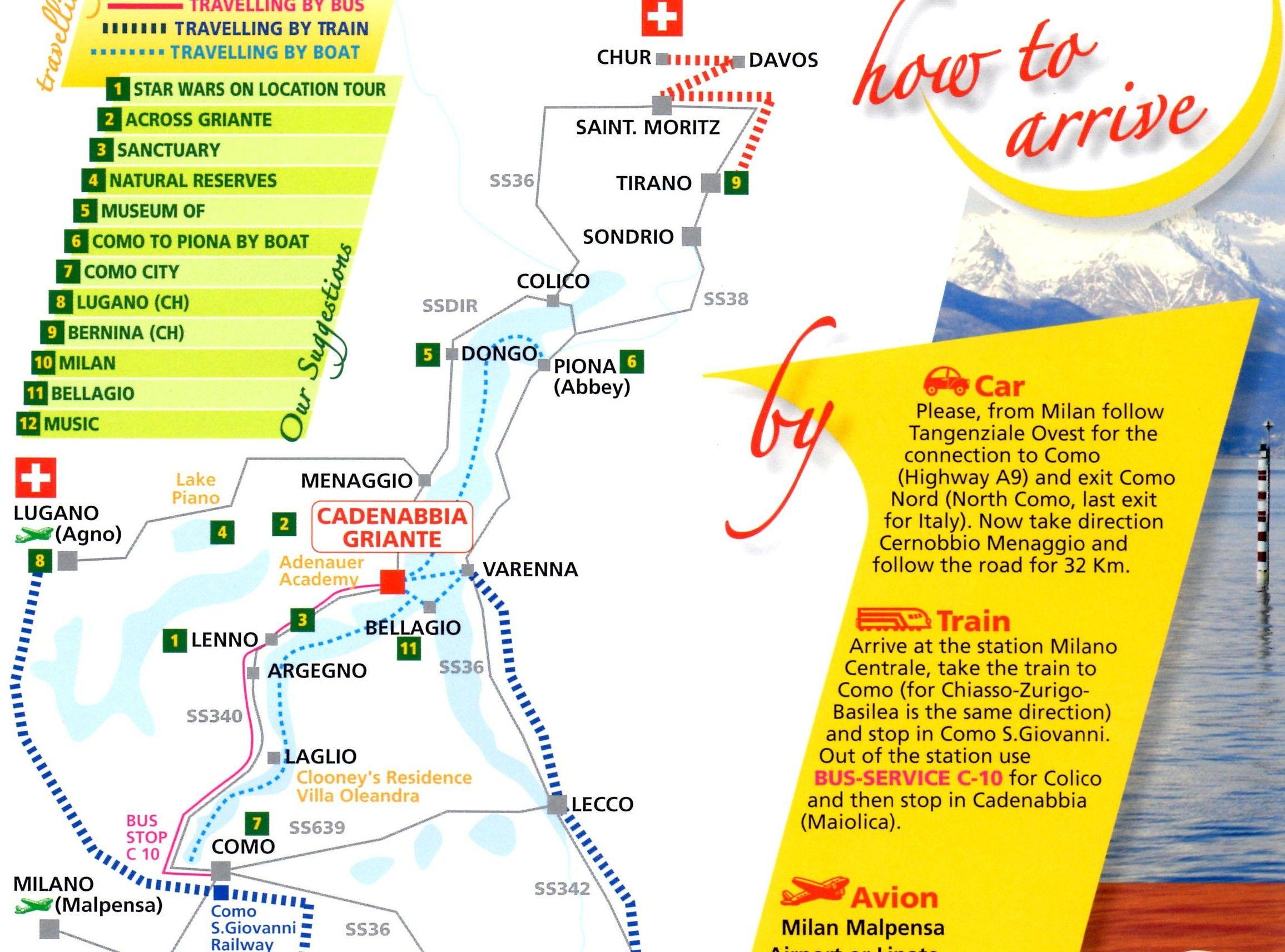Lake Como Map Glicine And Azalea House Lake Como Lake