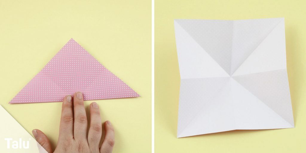 Origami Tulpe Falten