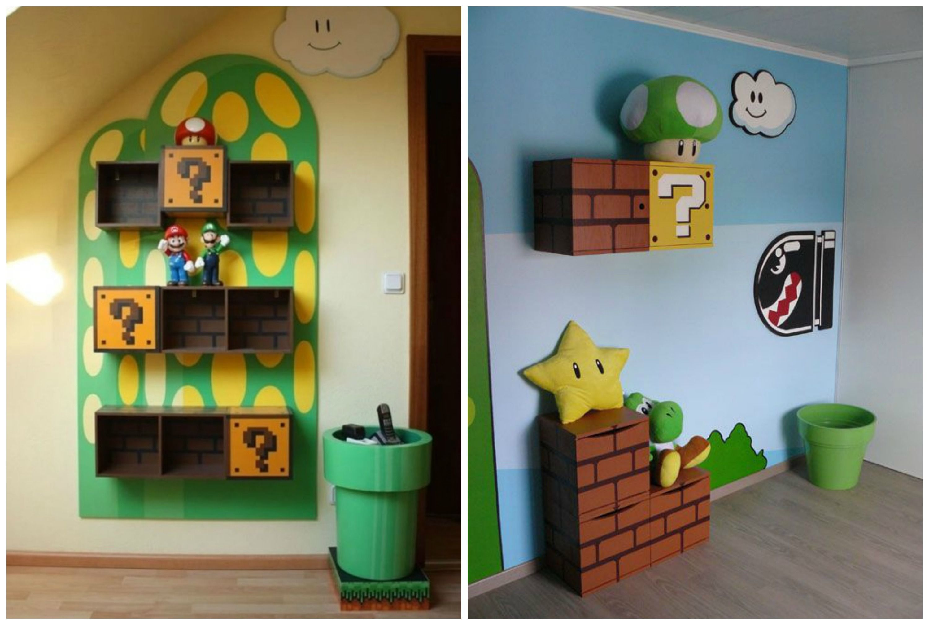 D co super mario chambre enfant all about mario - Chambre mario ...