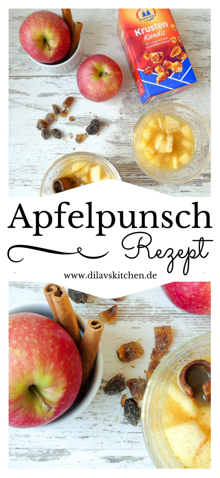 Apfelpunsch mit Weißwein, Zimt und Krustenkandis | Rezept