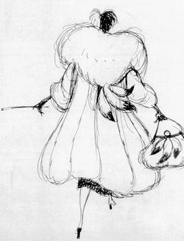 Cruella de Vil production art by Marc Davis for 101 Dalmatians (1961)