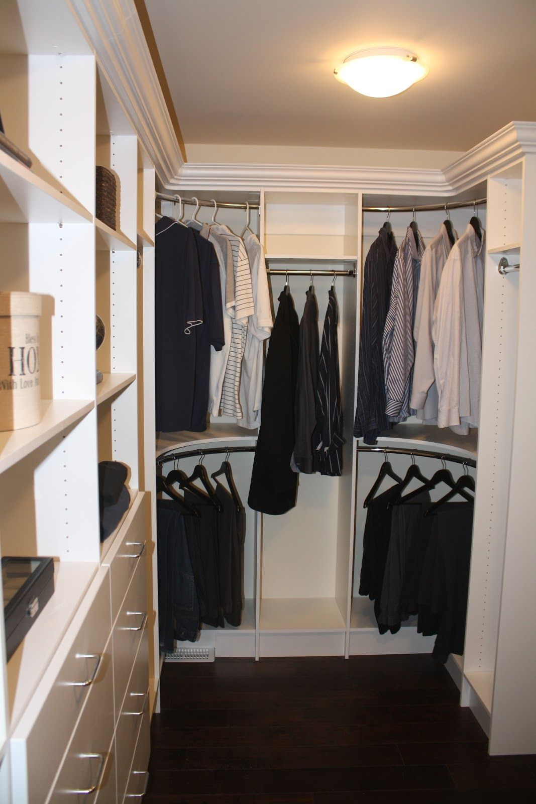 Curved Closet Rod Mesmerizing This Is How I Want My Closet Corner Rods But With Custom Crown Decorating Design