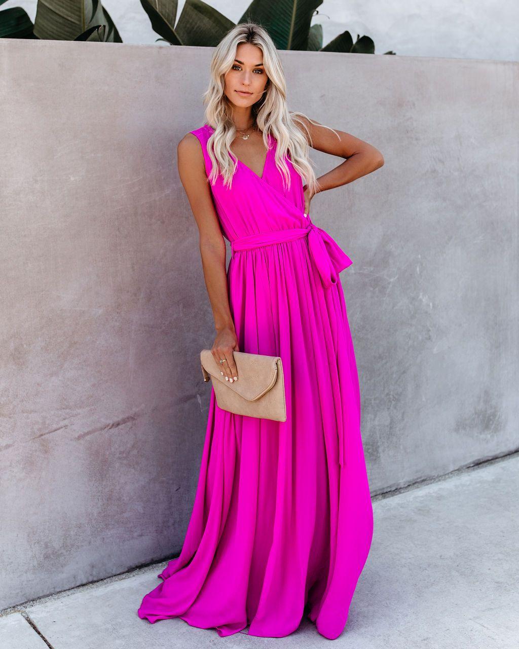 Diana Sleeveless Maxi Dress Fuchsia Vici Fashion Beautiful Outfits Maxi Dress [ 1280 x 1024 Pixel ]