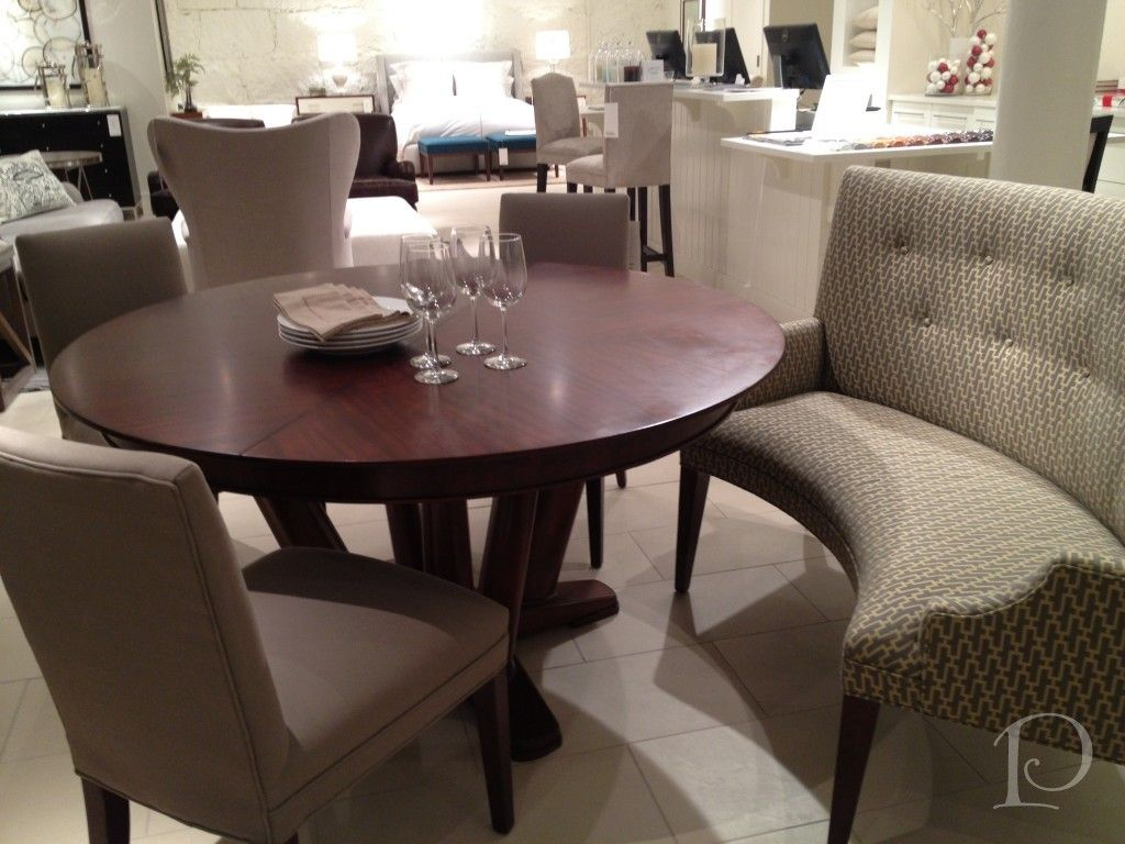 Curved Banquette Seating Beautiful Dining Room Table Bungalow