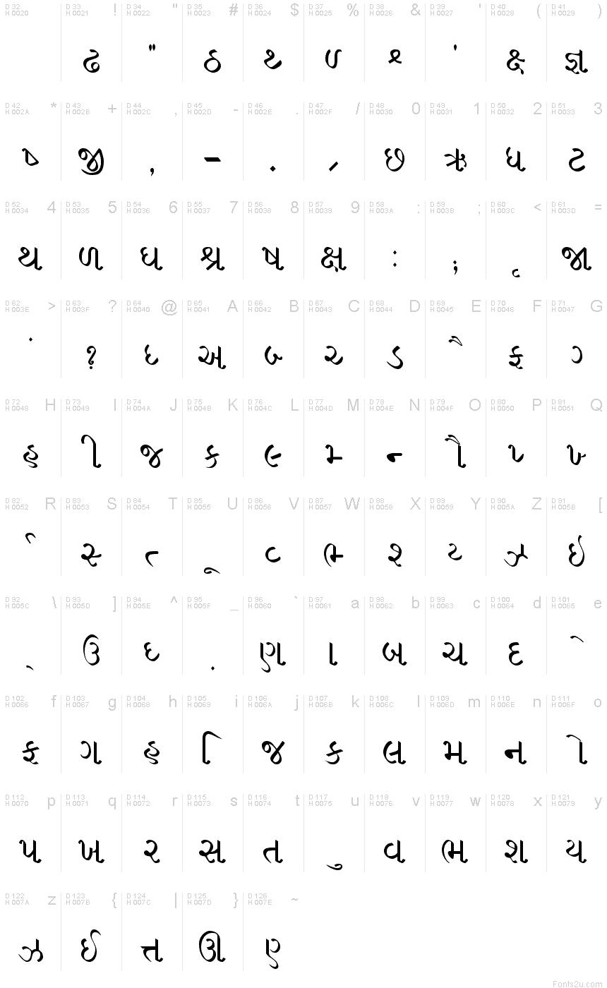 Gujrati Saral 1 Font Gujarati Font Writing Systems Fonts [ 1400 x 860 Pixel ]