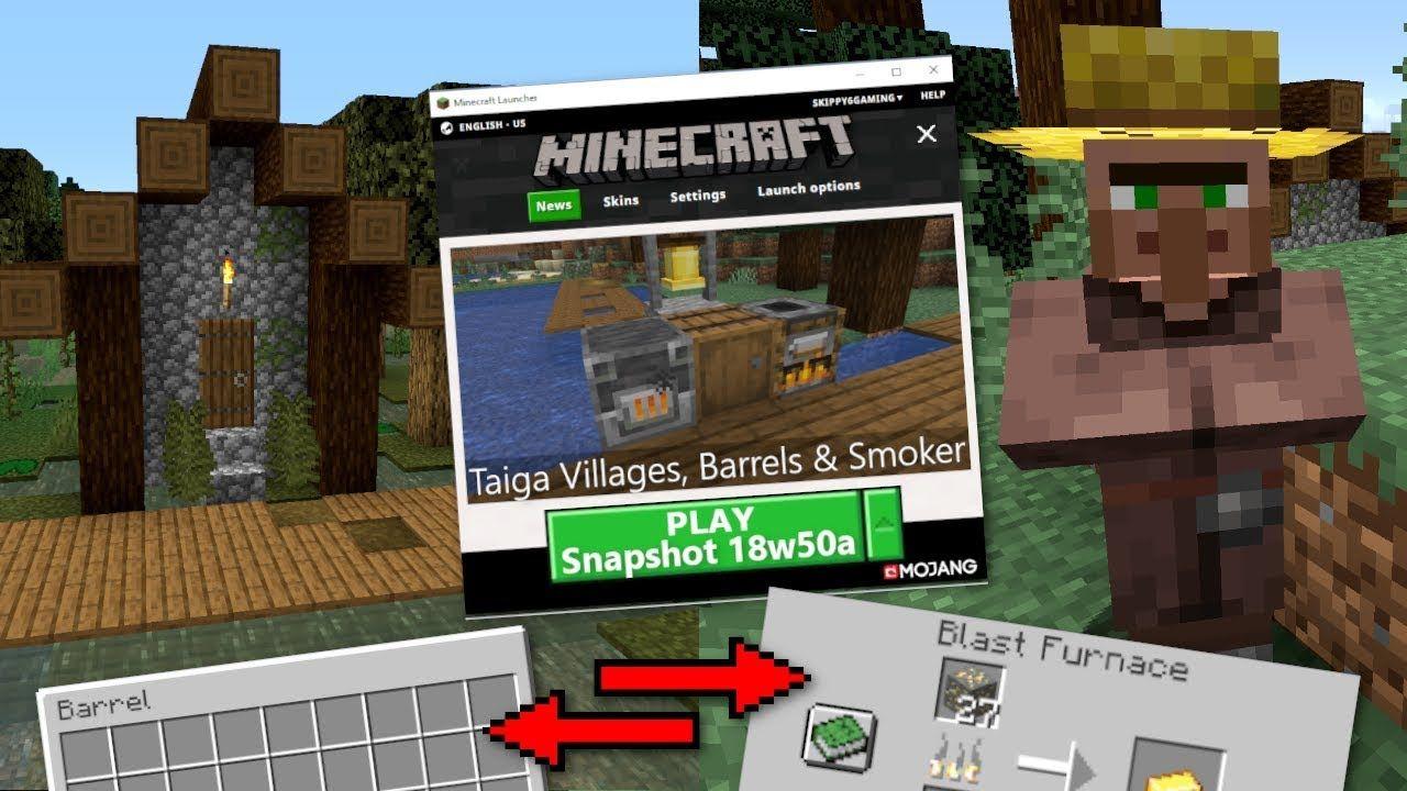Minecraft - 18w50a OUT…   ⚒️143+ Minecraft MCPE / Bedrock